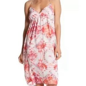 CAD Pink Tie Dye Sheath Halter Dress